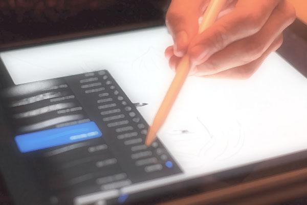 デジタルでお絵描き