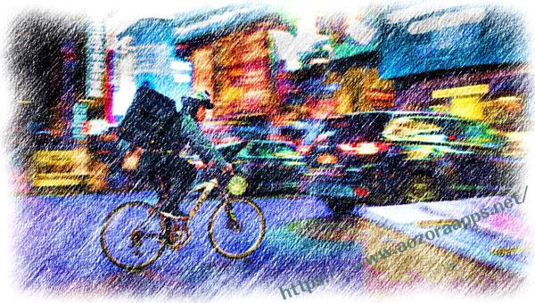 色鉛筆での描画07