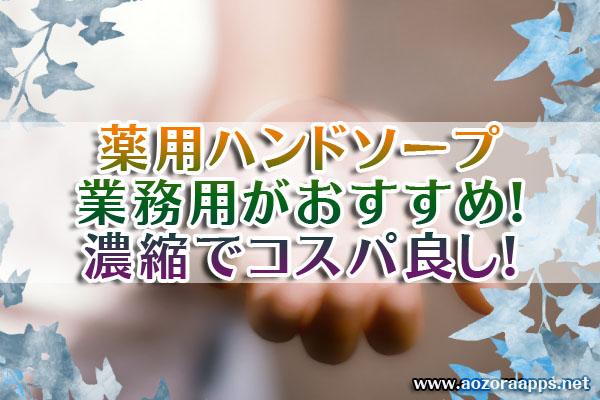 薬用ハンドソープ業務用01